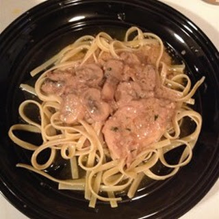Creamy Chicken Marsala Fettuccine