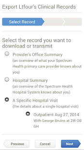 Spectrum Health MyHealth- screenshot thumbnail