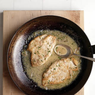 Chicken Paillards with Lemon-Butter Sauce.
