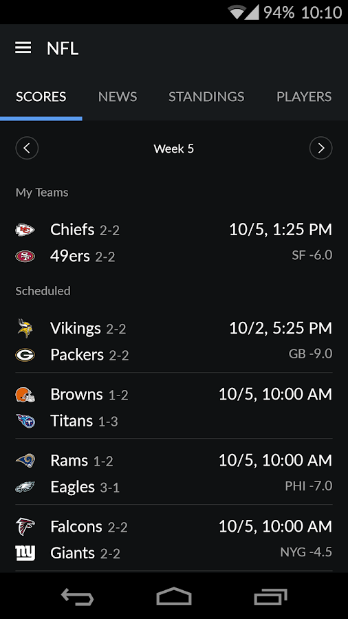 Yahoo Sports- screenshot
