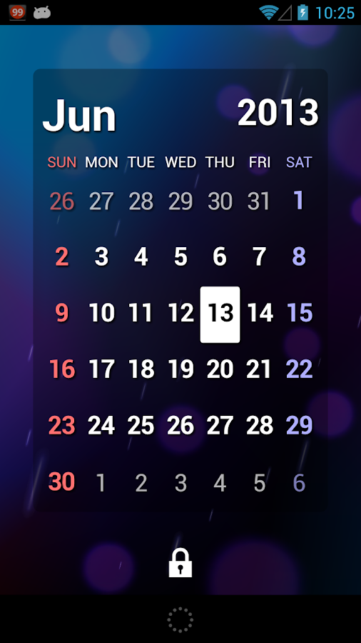 S2 Calendar Widget - Full - screenshot