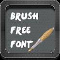 Brush Font Style icon