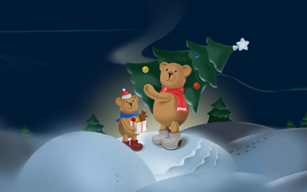 Snowy bears Live Wallpaper- screenshot
