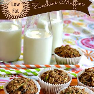 {Low Fat} Zucchini Muffins.