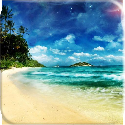 海灘免費動態桌布 休閒 App LOGO-硬是要APP