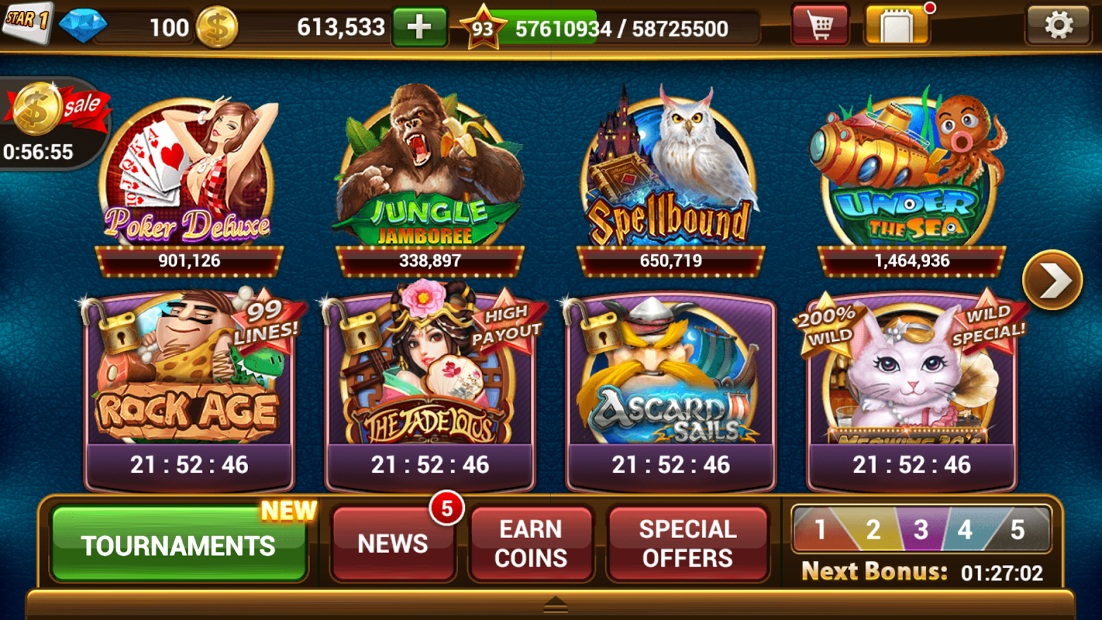 slot machines game online