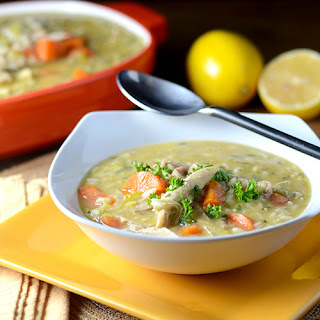 Lemon Turkey Rice Soup