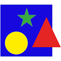 Colors and shapes for children icon