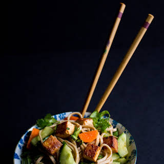 Spicy Soba Noodles with Pan Seared Tofu.