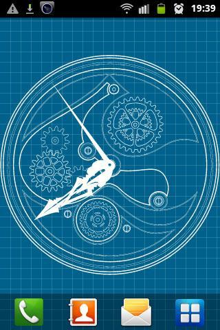 Clock Blueprint Wallpaper