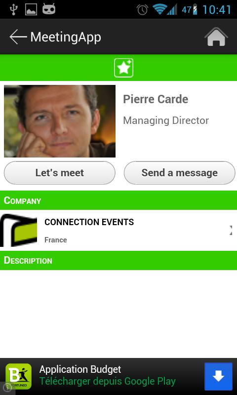 Meeting App - screenshot