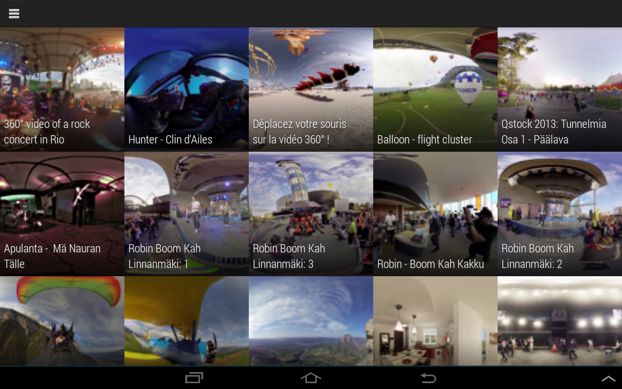 Kolor Eyes 360° video player- screenshot