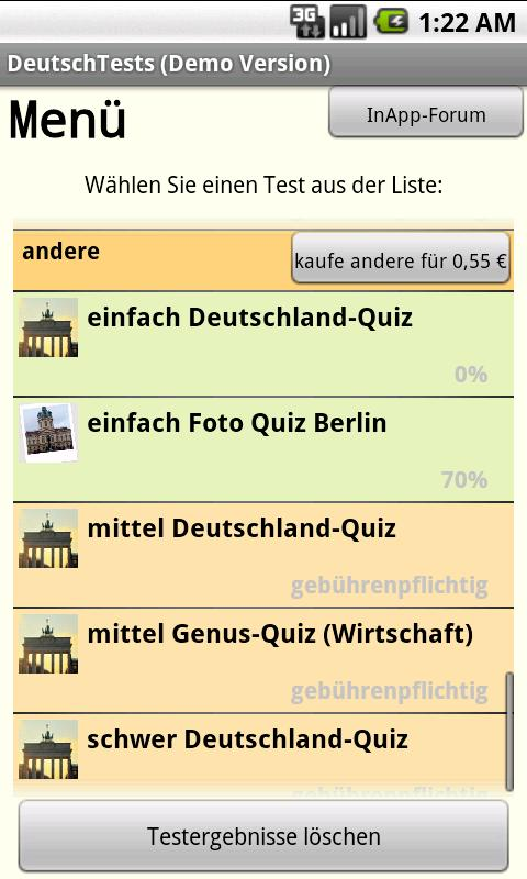 DeutschTests (GermanTests) - screenshot