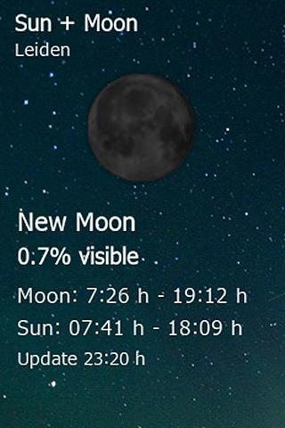 Sun + Moon Widget- screenshot