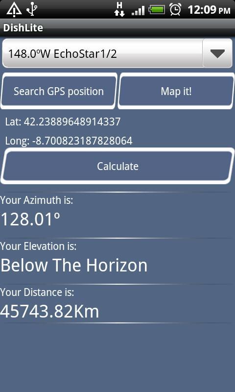 Dish Pointing Calculator Lite- screenshot