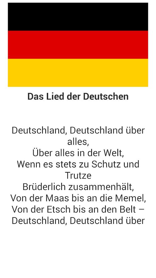 Das Deutschlandlied - Android Apps on Google Play