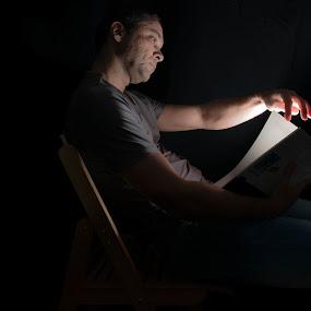 The reader by Jean-Luc Legros - People Portraits of Men ( Selfie, self shot, portrait, self portrait )