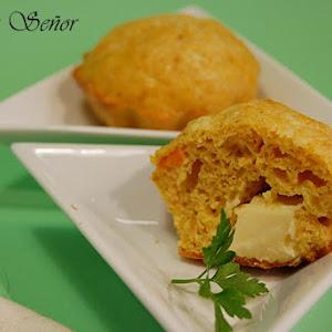 Savory Carrot Cumin Lava Cakes with a Gouda Center