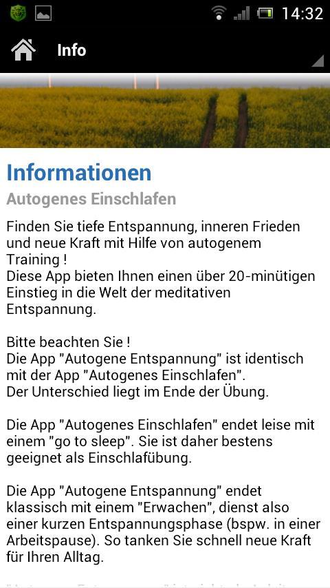 Autogenes Einschlafen - screenshot