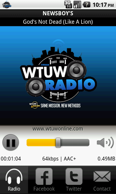 WTUW- screenshot