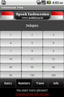 Screenshot of Speak Indonesian Free