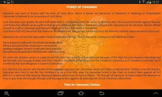 Screenshot of Hanuman Chalisa