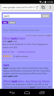 Purple Search for Google™ - screenshot thumbnail