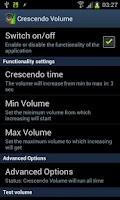 Screenshot of Crescendo Volume