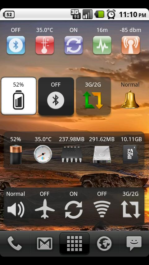 System Info Widget- screenshot