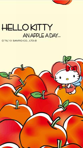 玩免費個人化APP|下載[ハローキティ]an apple a dayライブ壁紙 app不用錢|硬是要APP