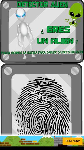 detector huella alien broma