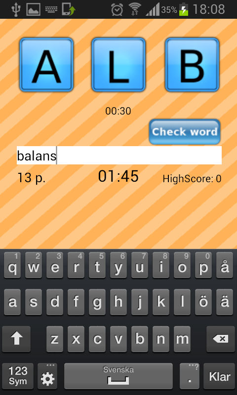 goWord by teneo (ordspel) - screenshot
