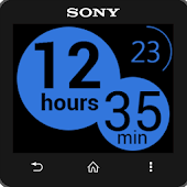Infinite Blue clock widget
