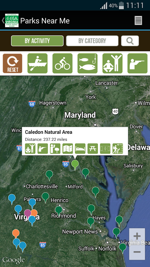 VA State Parks Guide- screenshot