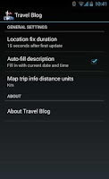 Screenshot of Travel Blog