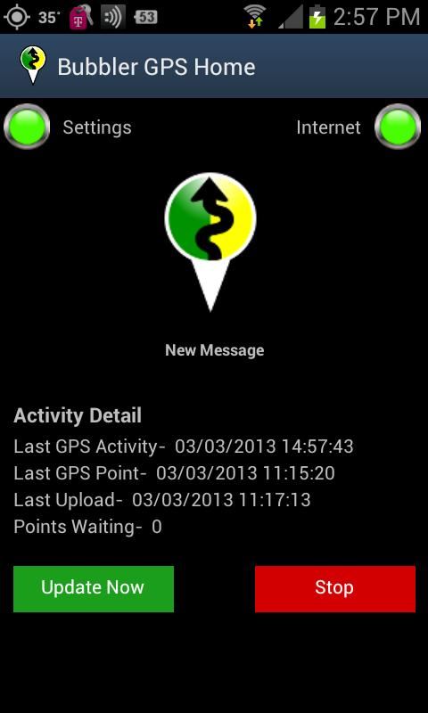 Bubbler GPS Pro- screenshot