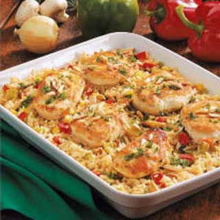 Chicken Rice Casserole with Veggies.