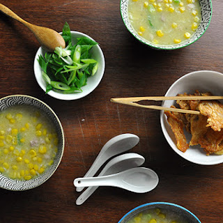 Genevieve's Chicken And Creamed Corn Soup.