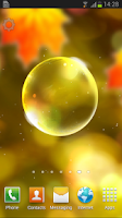 Screenshot of Autumn Bubbles LWP