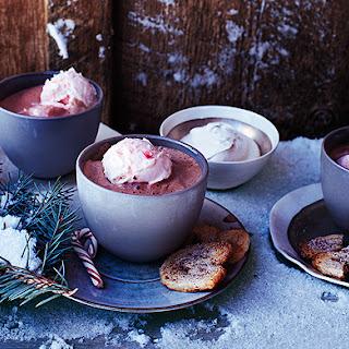 Hot-Cocoa Affogato with Peppermint Ice Cream