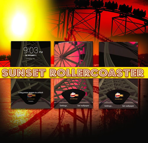 Sunset Roller Coaster in 3D