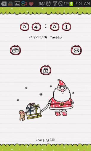 【免費個人化App】Doodle(Christmas) go locker-APP點子