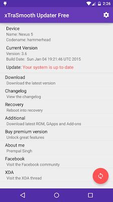 xTraSmooth Updater Free - screenshot