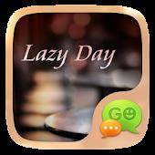 GO SMS LAZY DAY THEME