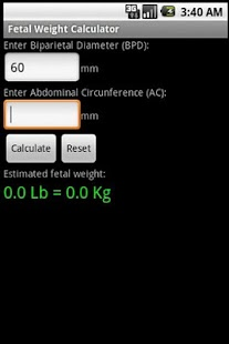 Fetal Weight Calculator- screenshot thumbnail