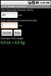 Fetal Weight Calculator