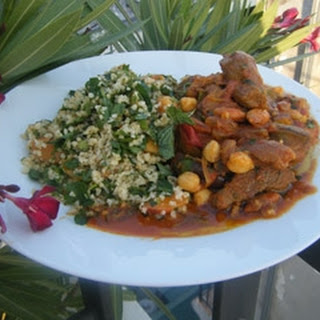 Lamb Tagine With Apricot Tabouleh