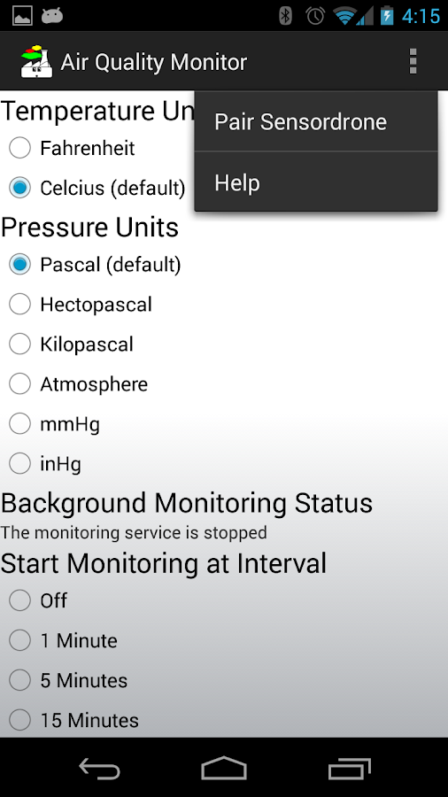 Air Quality Monitor- screenshot