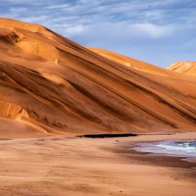 Sand Dunes by Johan Jooste Snr - Landscapes Deserts ( sand, dunes, namib desert, desert, sea, namibia )