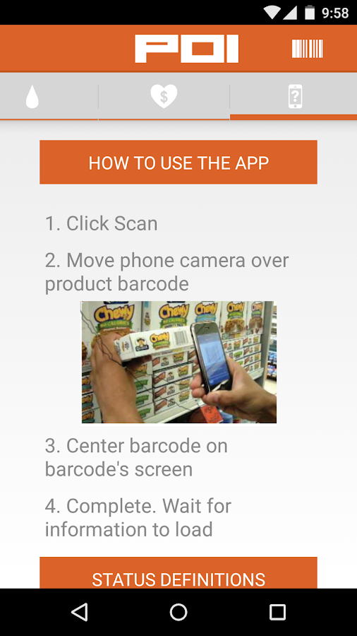 POI Palm Oil Barcode Scanner- screenshot
